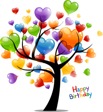 colored_heart_tree_happy_birthday_card_vector_544109